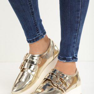 81869b03ed Cu platforma ane aranyszínü casual női cipők